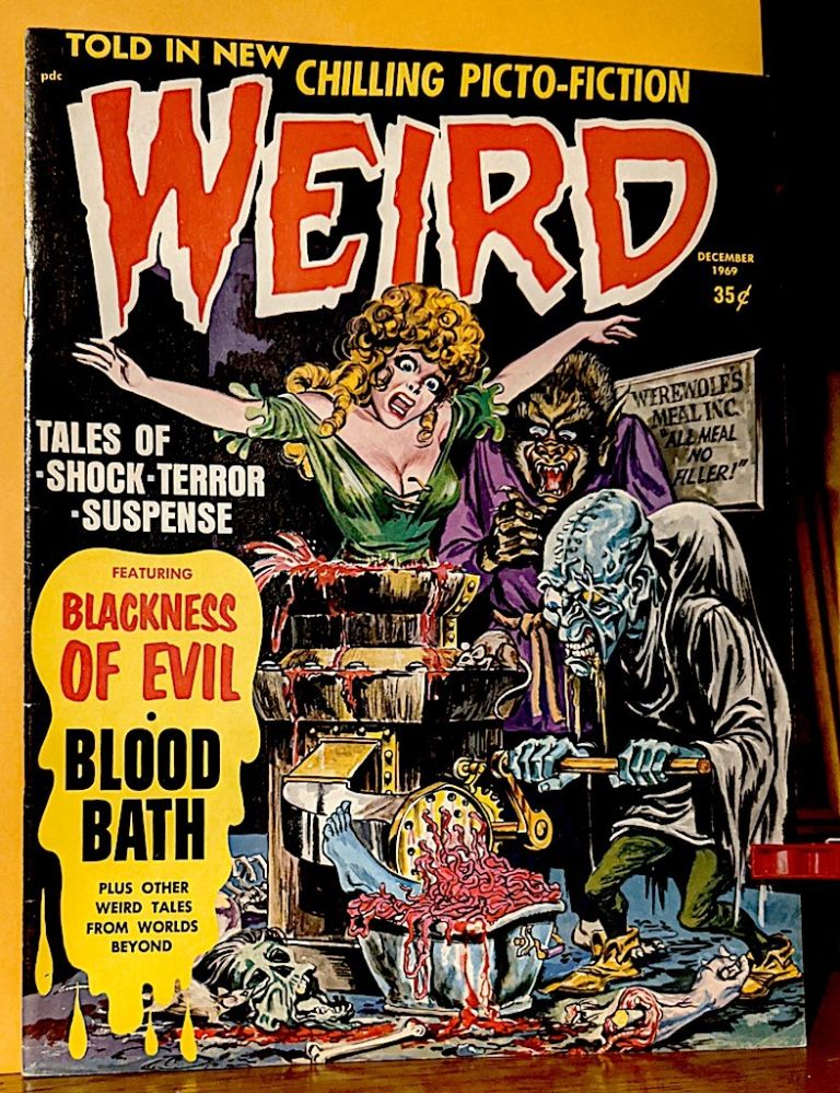 Weird. Featuring Blackness of Evil - Blood Bath. Plus Other Weird Tales From Worlds Beyond. Carl Burgos.