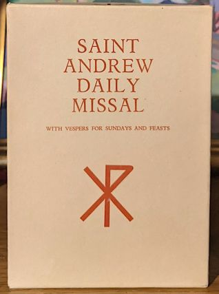 SAINT ANDREW DAILY MISSAL WITH VESPERS FOR SUNDAYS AND FEASTS