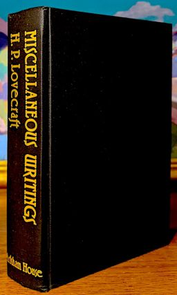 Miscellaneous Writings H. P. Lovecraft