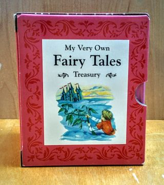 Fairy Tale Treasury. 12 nolumes.; Goldilocks and the Three Bears, Little Red Riding Hood, Jack and the Beanstalk, Hansel and Gretel, The Three Little Pigs, Sleeping Beauty, Cinderella, Snow White, Puss in the Boots, The Ugly Duckling, Beauty and the Beast, Rumplestilkins