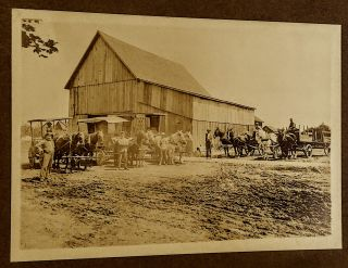 "Vintage 19th century Photograph: ""Bunting Livery Stable Near Gaston Oregon"" written in pencil on..."