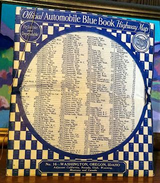 Official Automobile Blue Book Highway Map No. 16 - Washington, Oregon, Idaho. Adjacent...