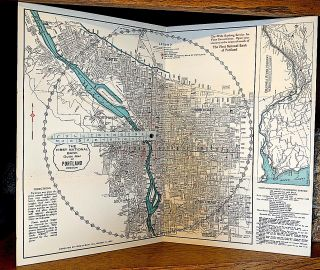 First National Bank Guide Map of Portland