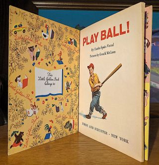 Play Ball. A First Book About Baseball ...