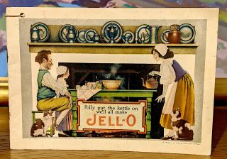 Polly Put the Kettle On We'll All Make Jello. Maxfield Parrish, Jell-O